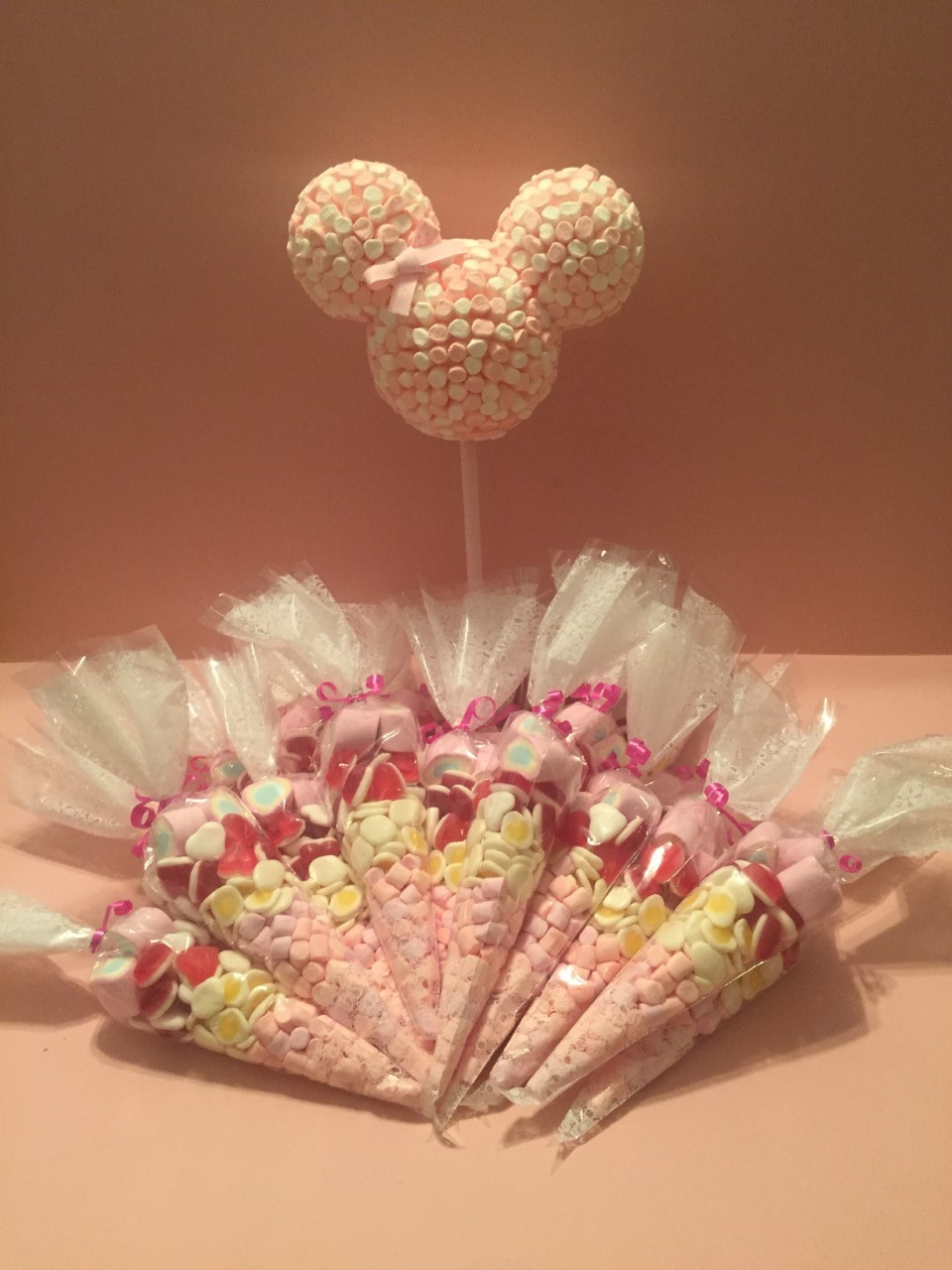 Pink Minnie Mouse & Sweet Cones