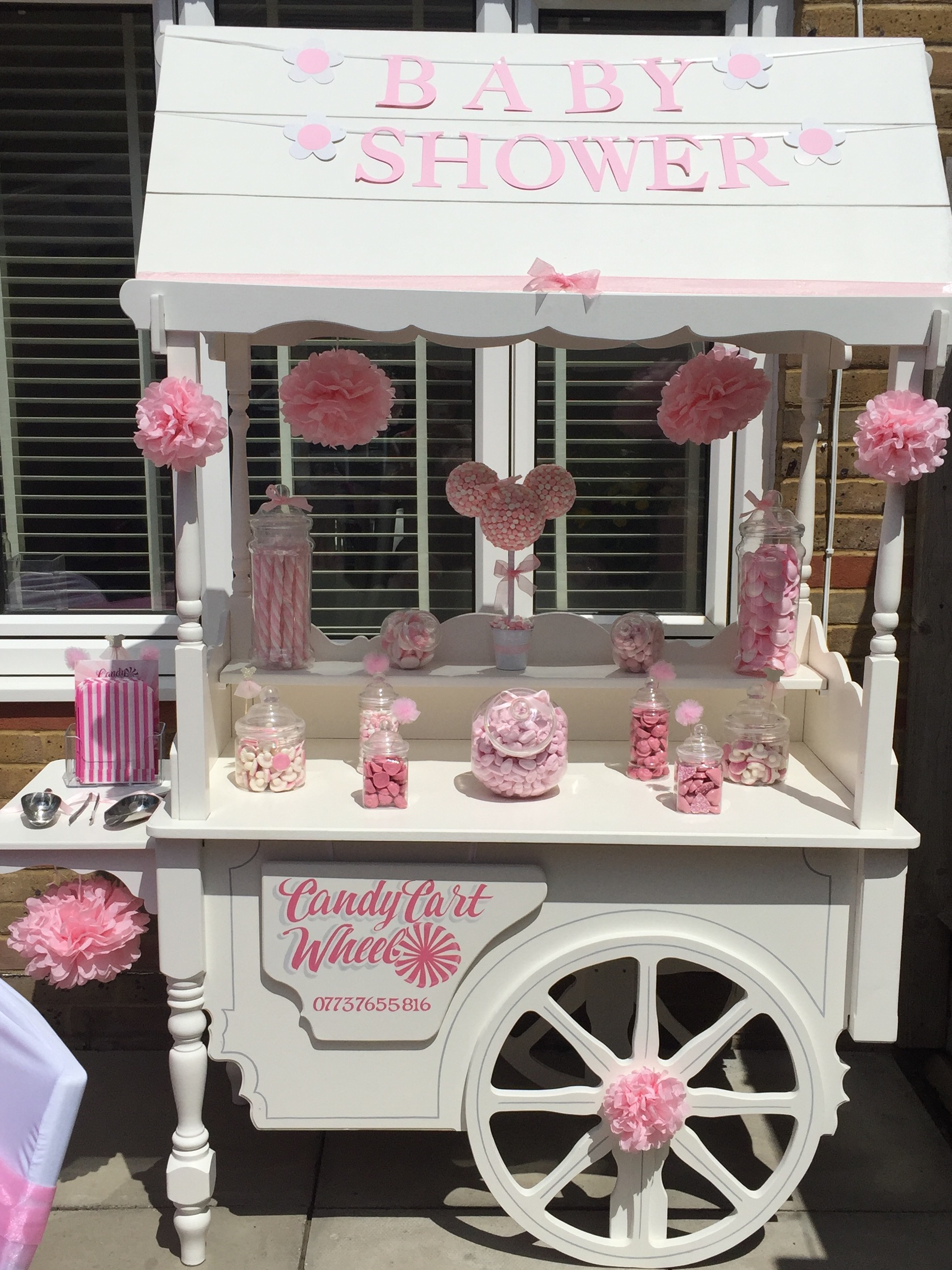 Pink Baby Shower Cart