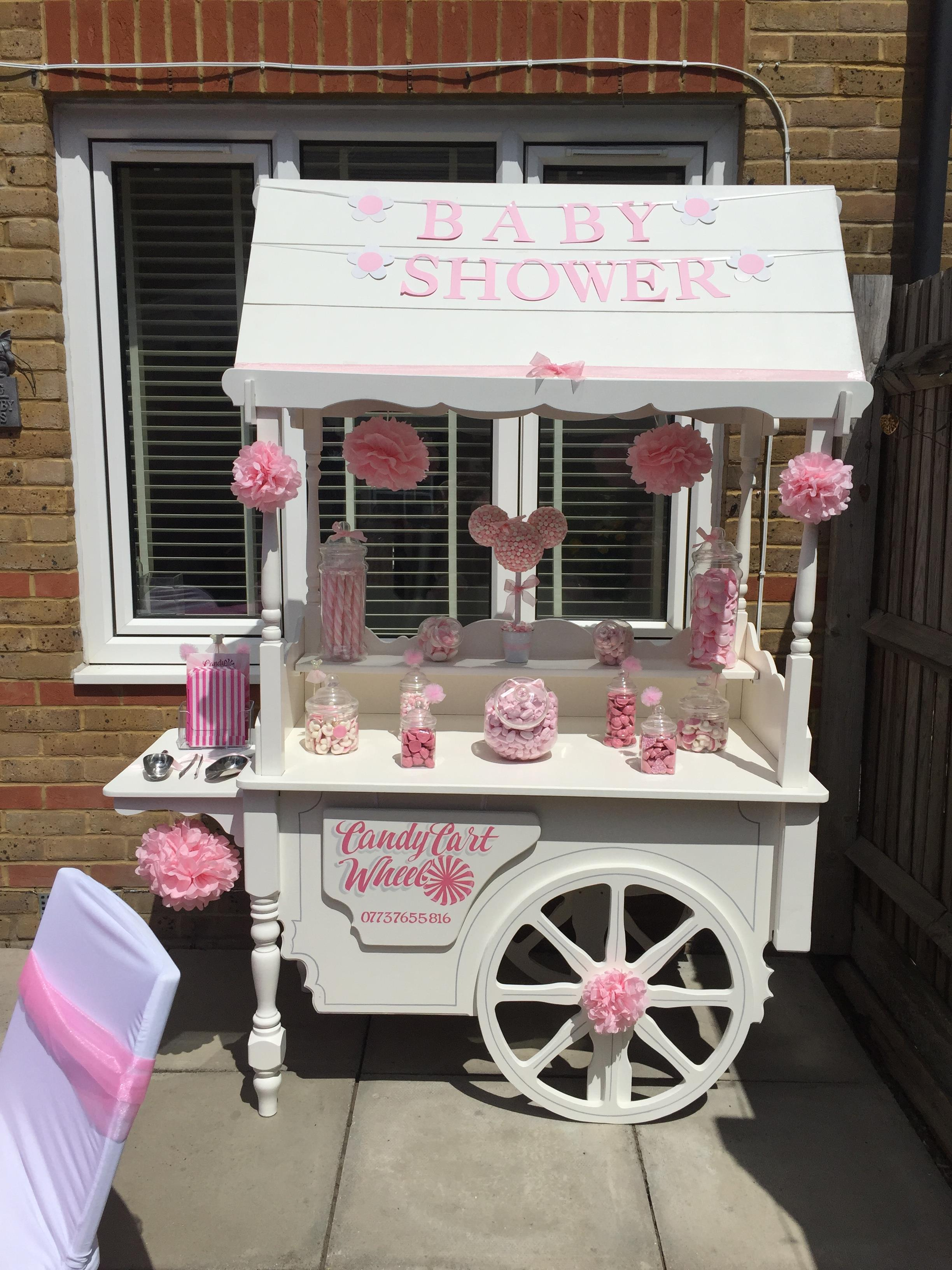 Pink Baby Shower Sweet Cart