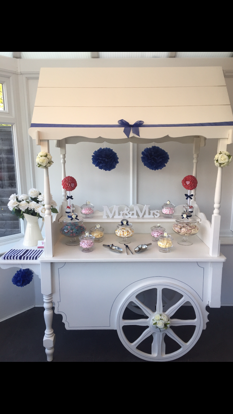 Royal Blue Wedding Cart