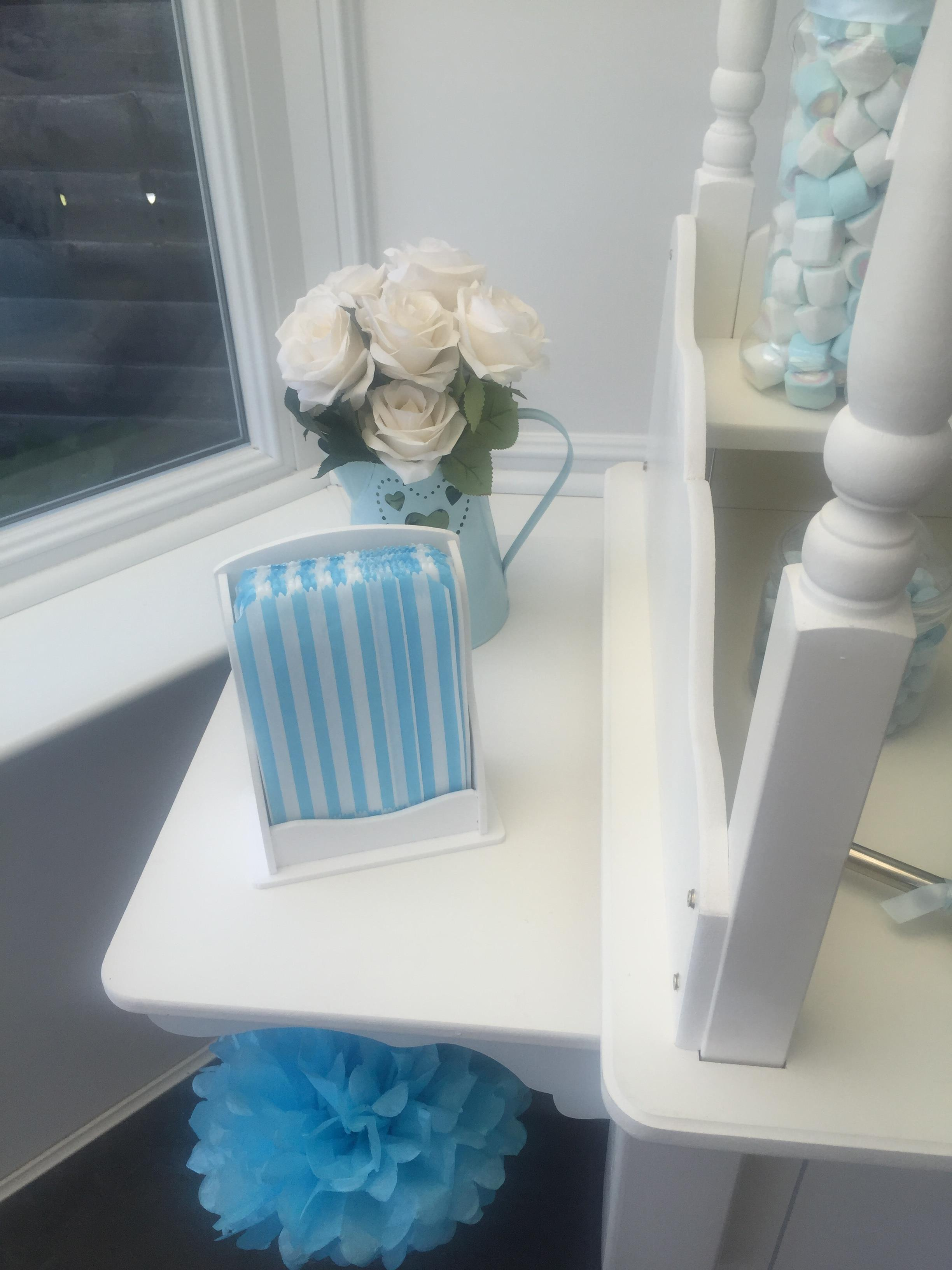 Baby Blue Sweet Cart Decor