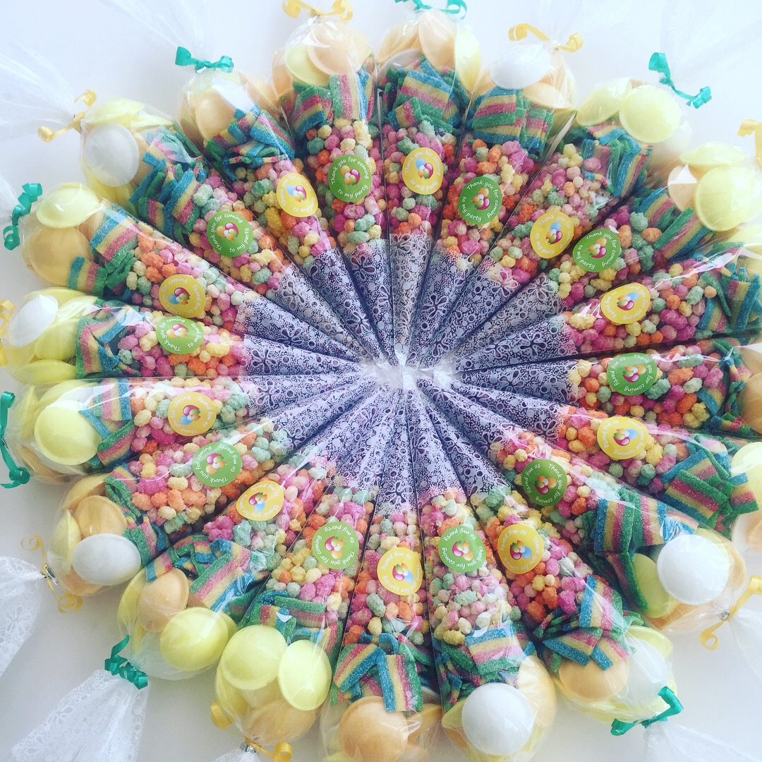 Colourful Party Cones
