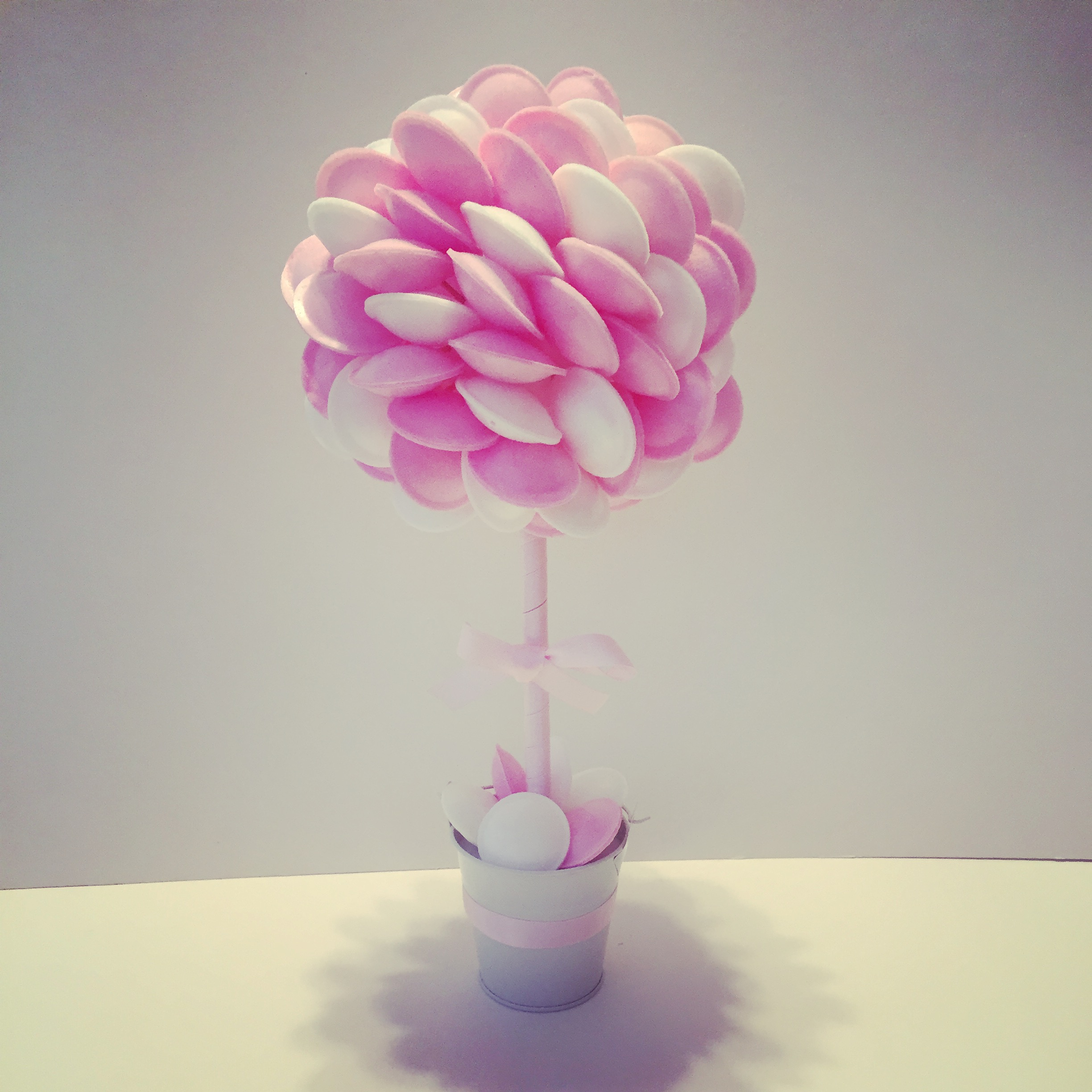 Pink & White Flying Saucer Tree