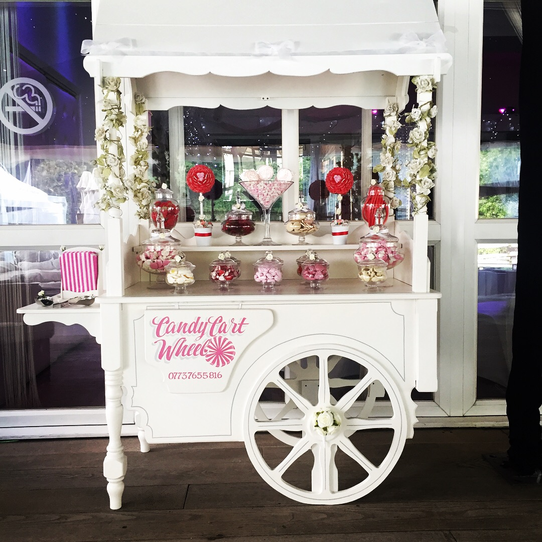 Sweet Cart Set up for Engagement Party