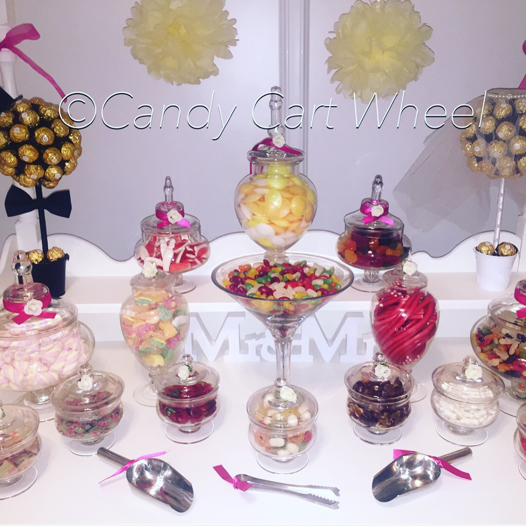 Mr & Mrs Candy Banquet Sweet Cart buffet