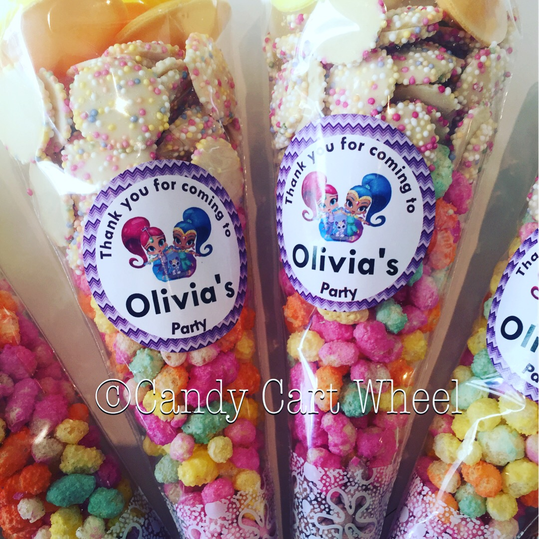 Personalised Shimmer & Shine Party Cones