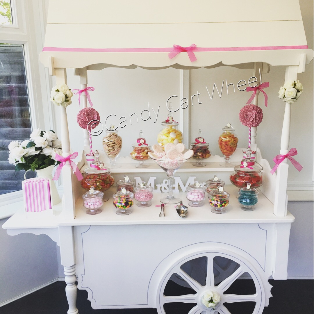 Candy Banquet Wedding Cart Hot Pink