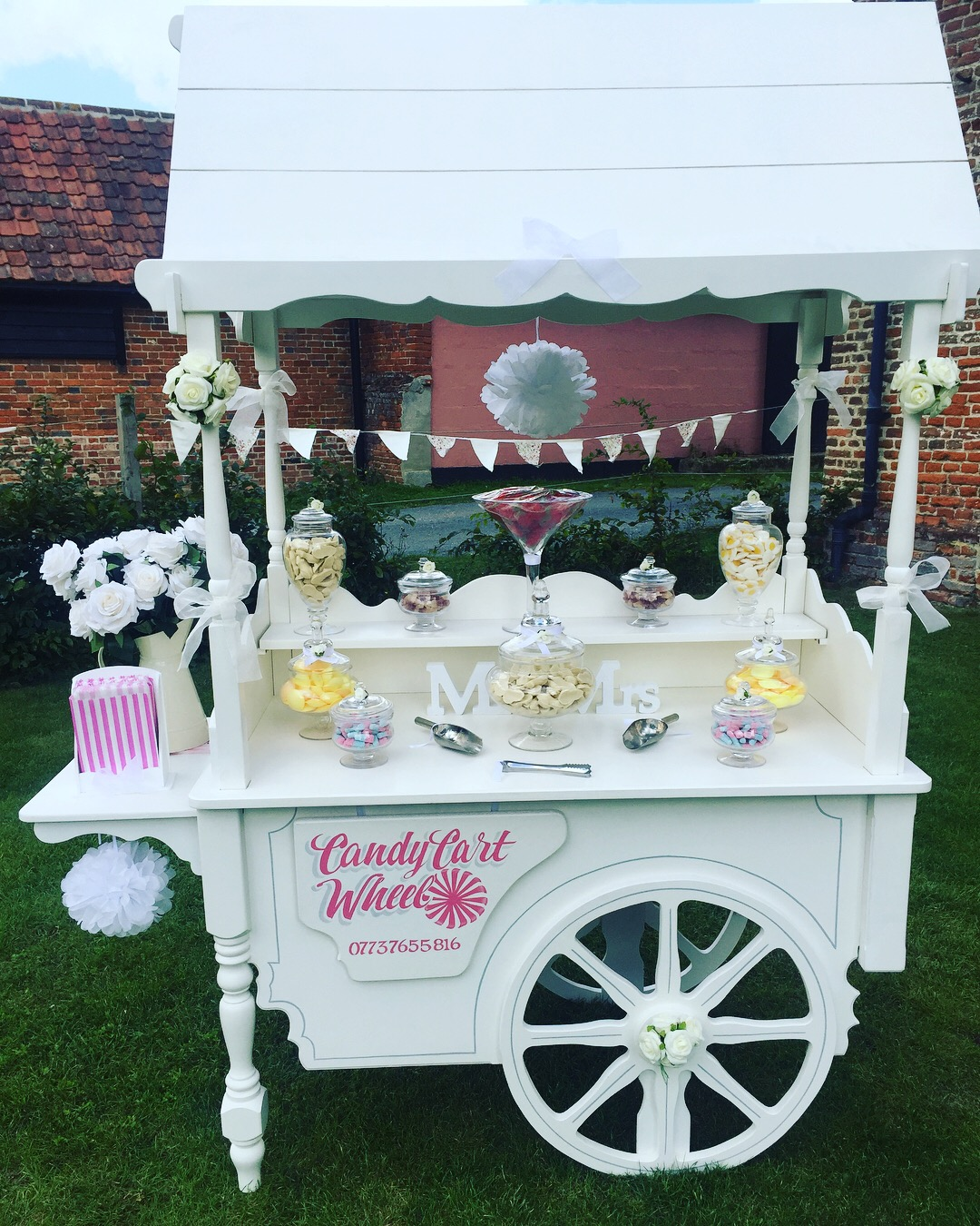 Candy Treat Summer Wedding Cart