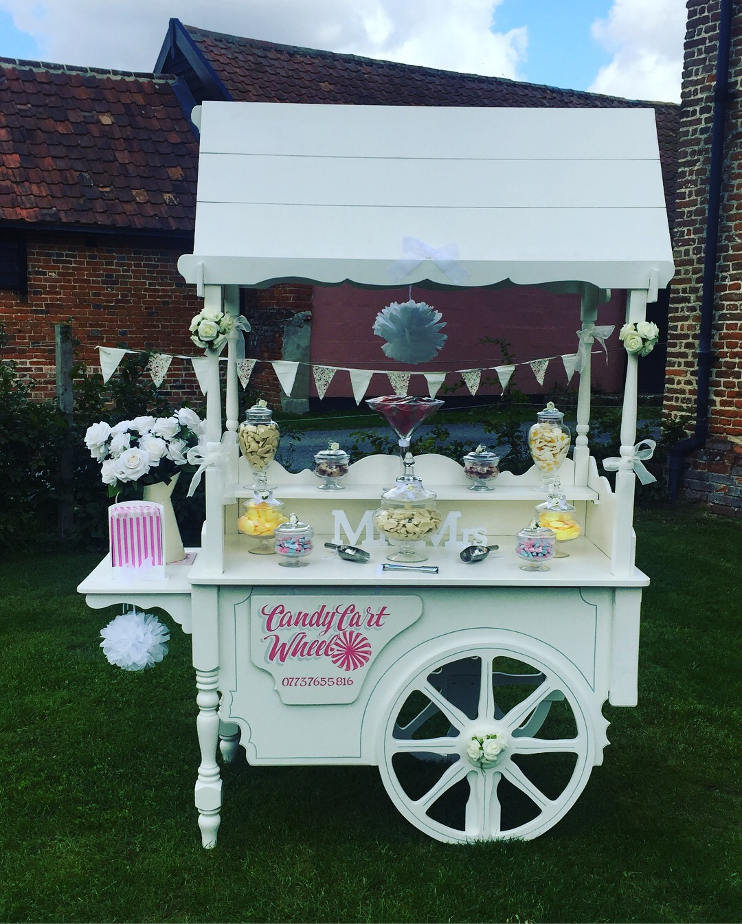 Candy Treat Wedding Cart