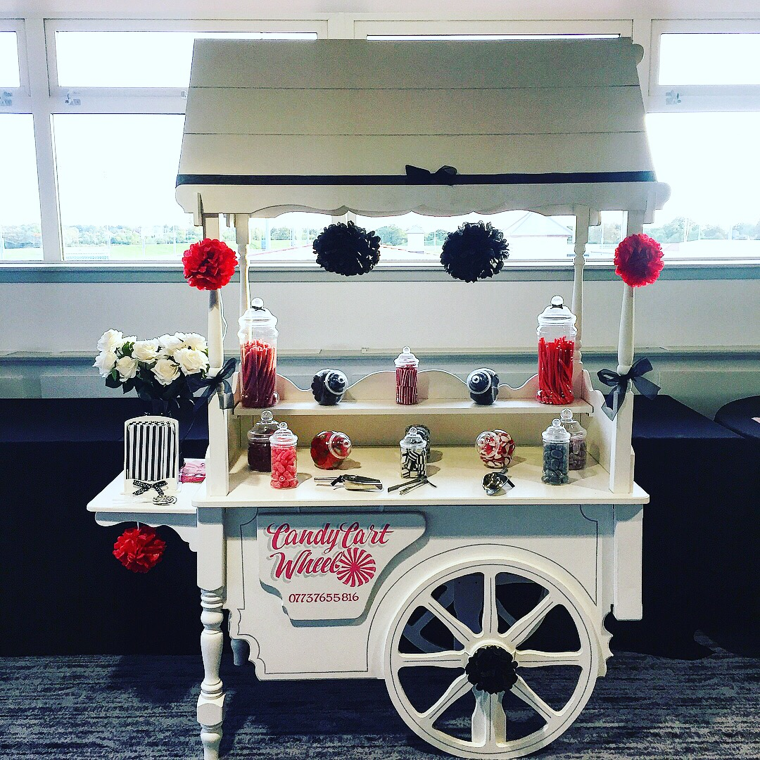 Chance & Dance Red & BLack Charity Sweet Cart
