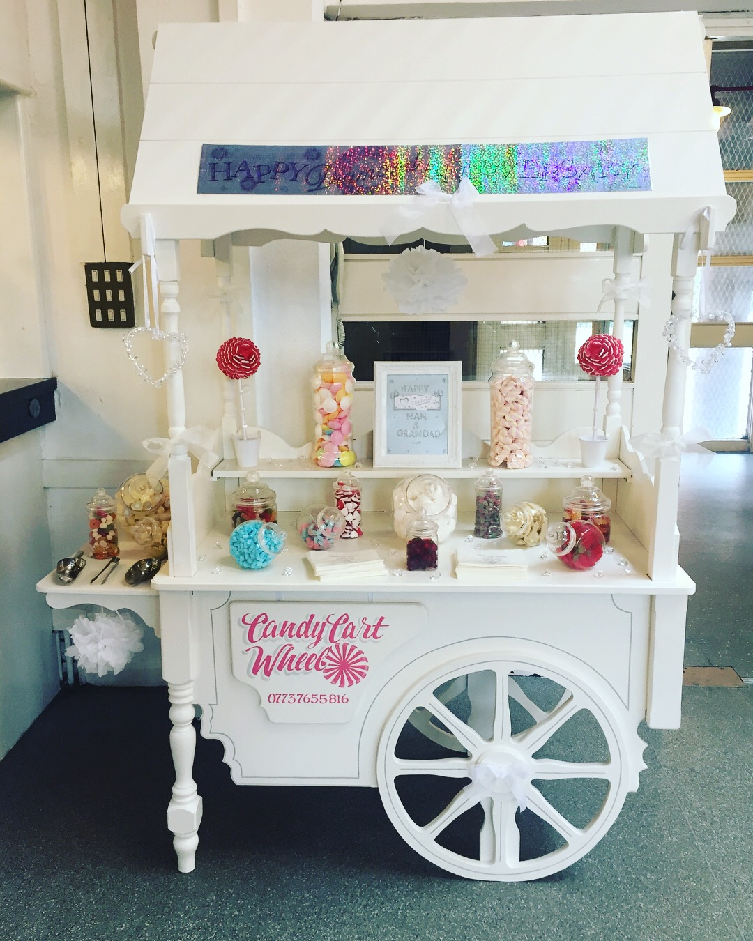 Candy Banquet Diamond Wedding Anniversary Sweet Cart