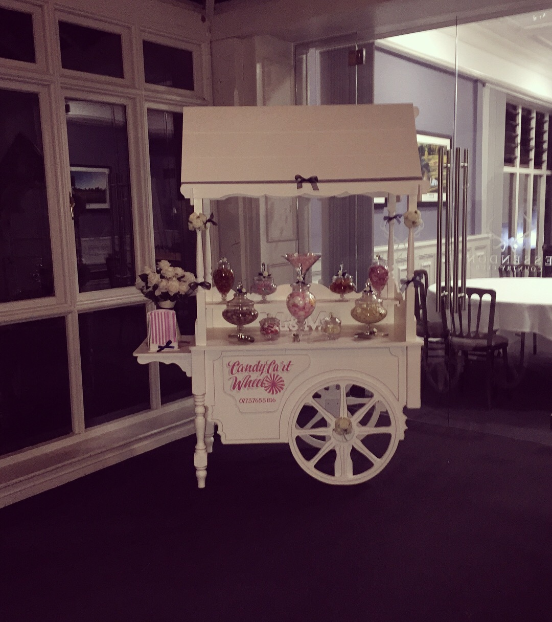 Candy Feast Navy Blue Wedding Cart - Essendon Country Club