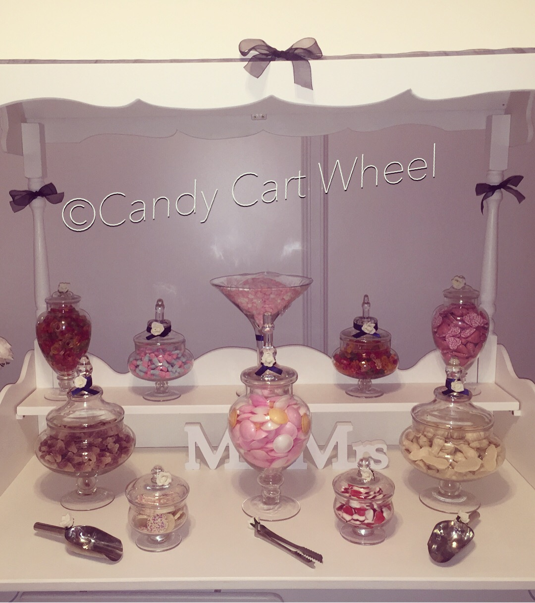 Candy Feast Navy Blue Wedding Cart
