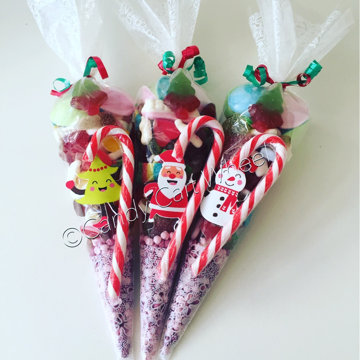 Christmas Pic n Mix Candy Cane Cones