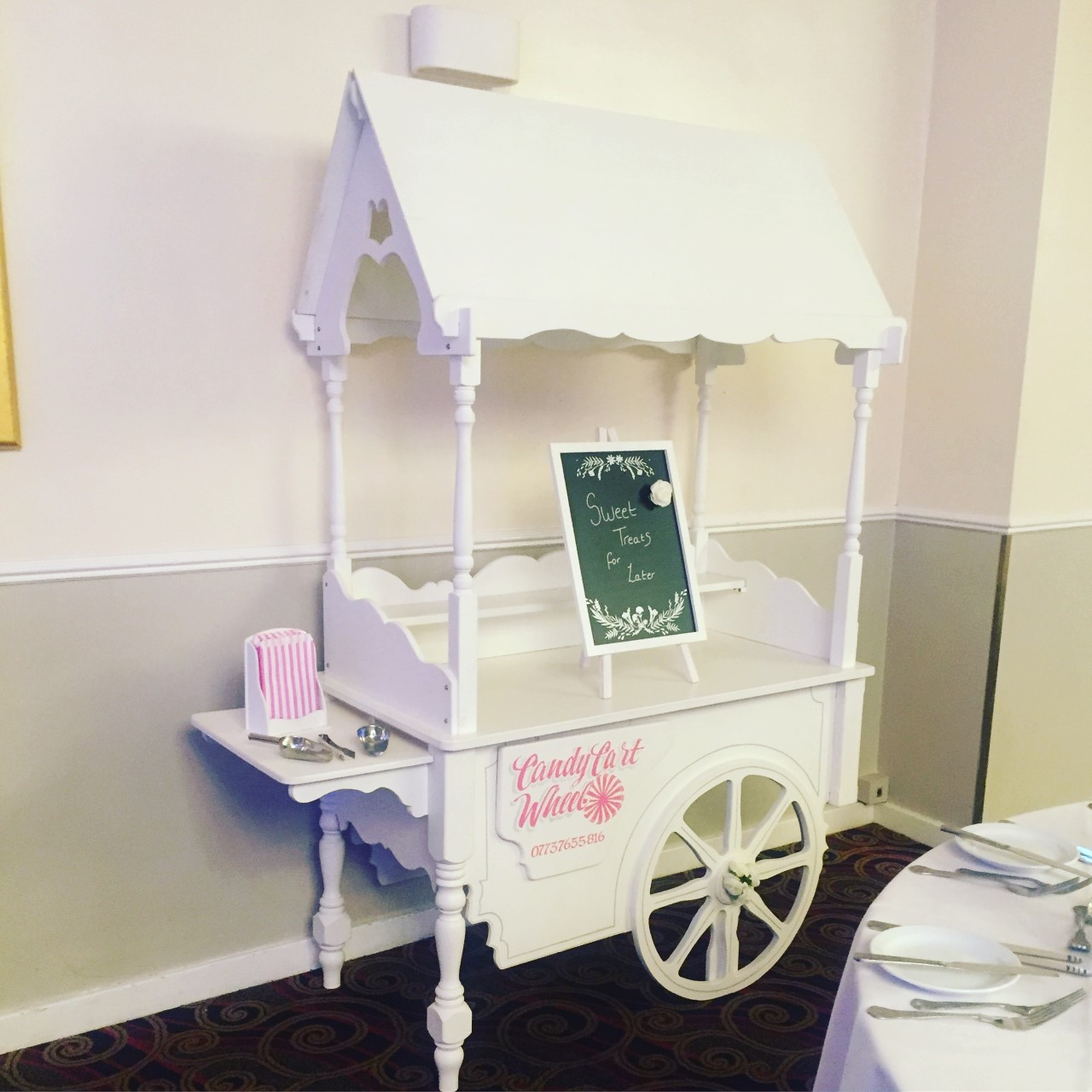 Sweet Cart Hire Only - Excluding Sweets & Jars