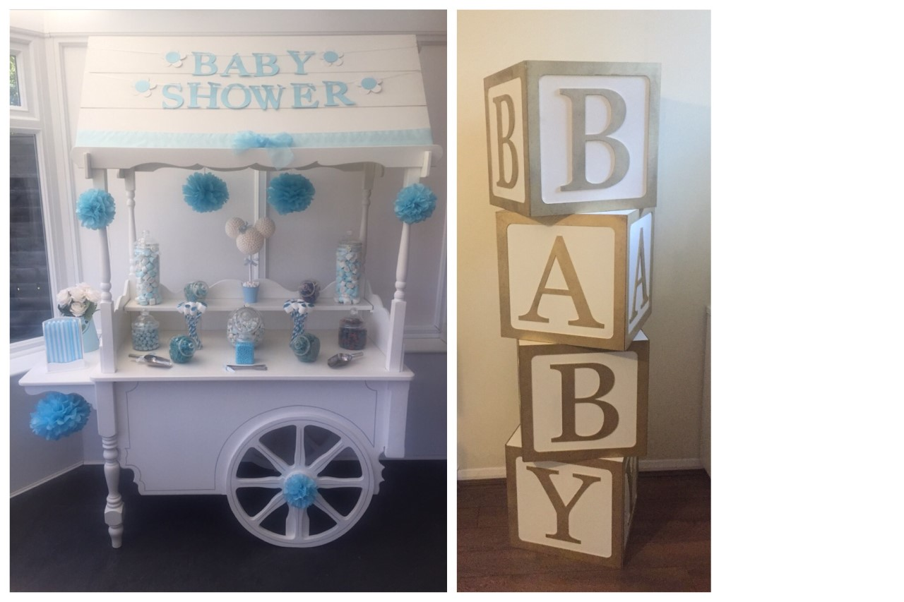 Baby Shower Sweet Cart Package Blue