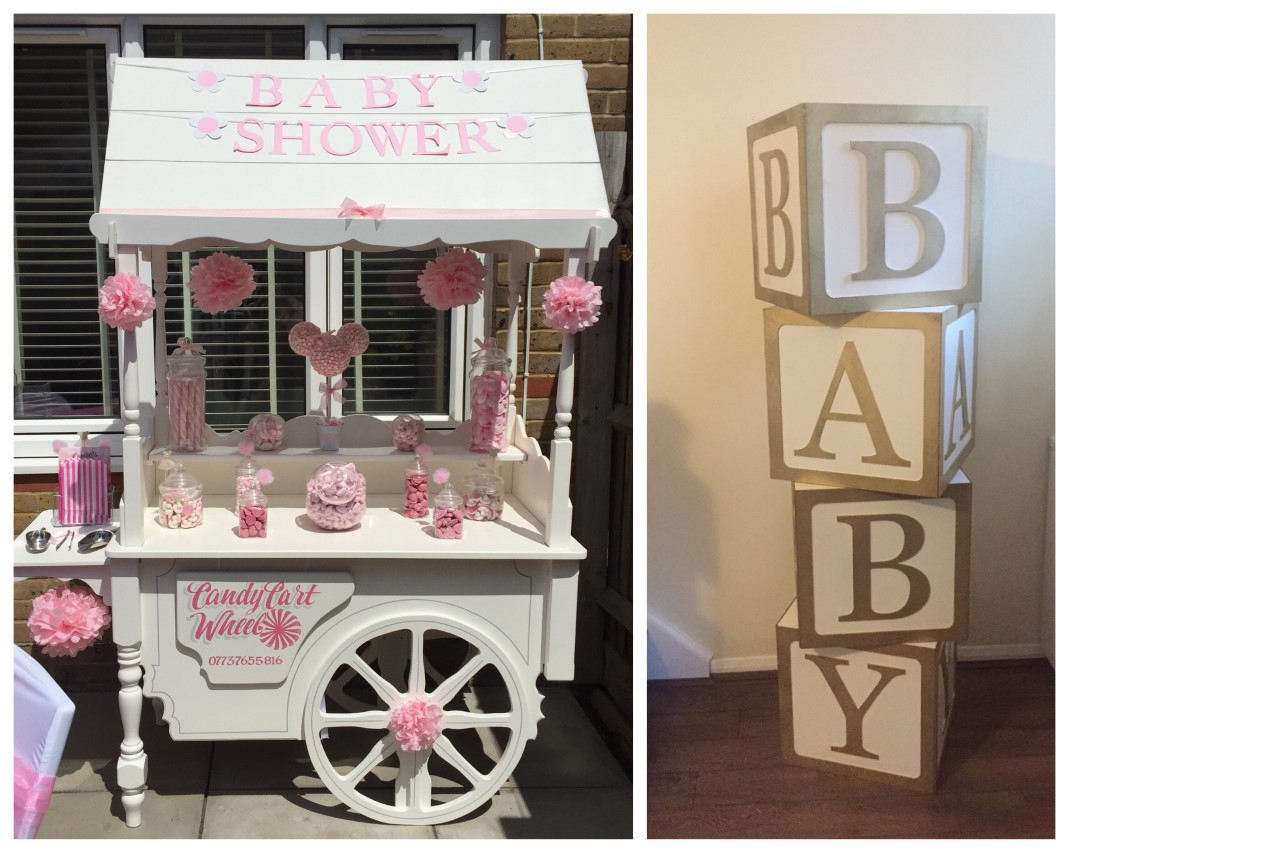 Baby Shower Sweet Cart Package Pink