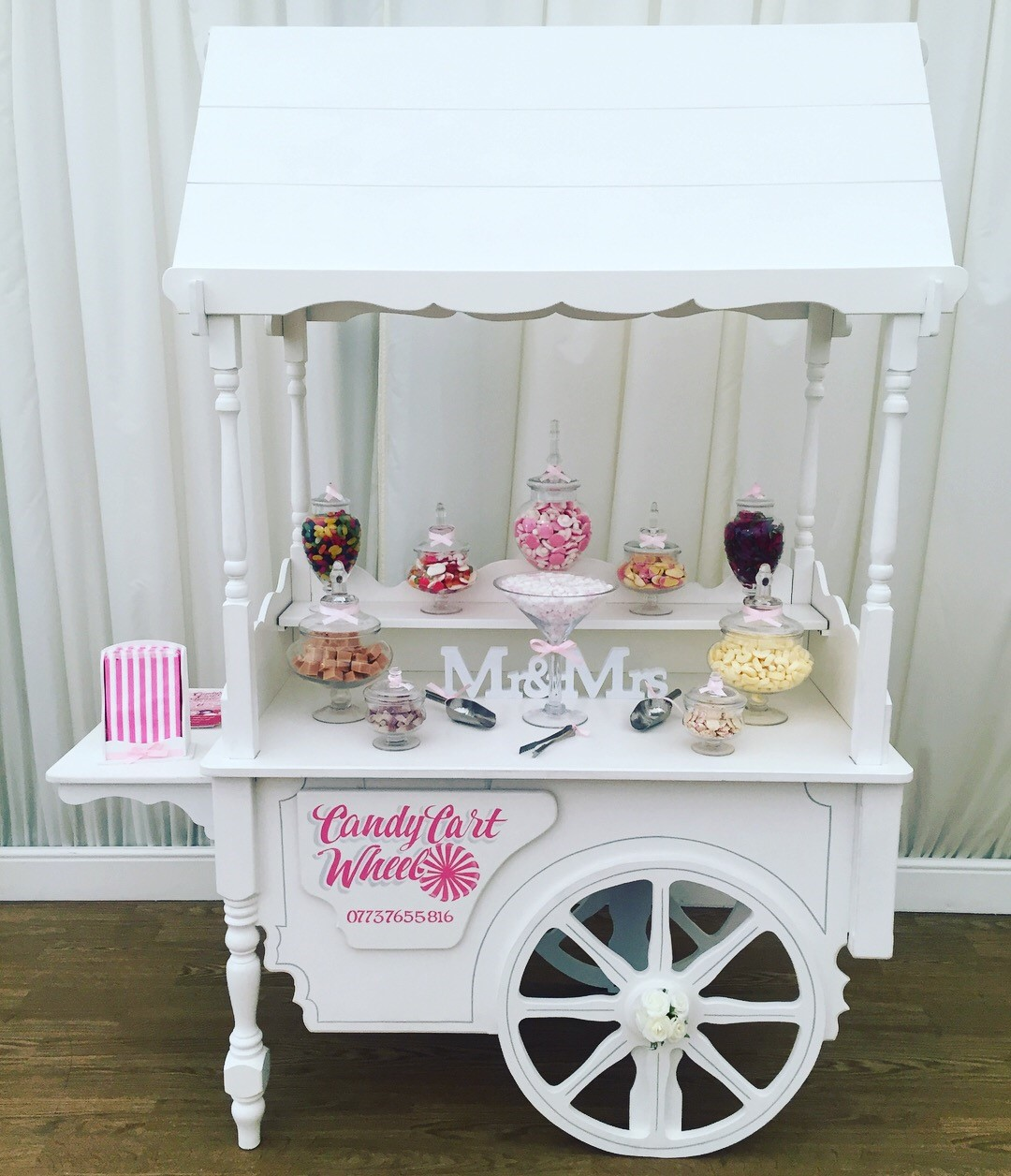 Candy Feast Wedding Cart - Quendon Hall