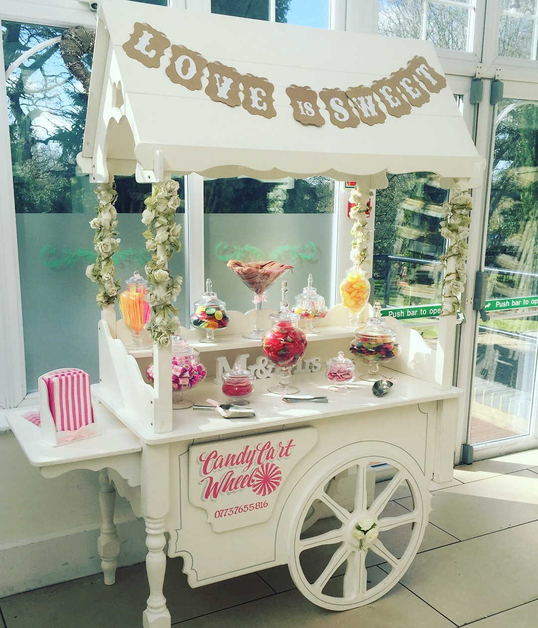 Candy Feast Wedding Cart - Ariana Gardens Chelmsford