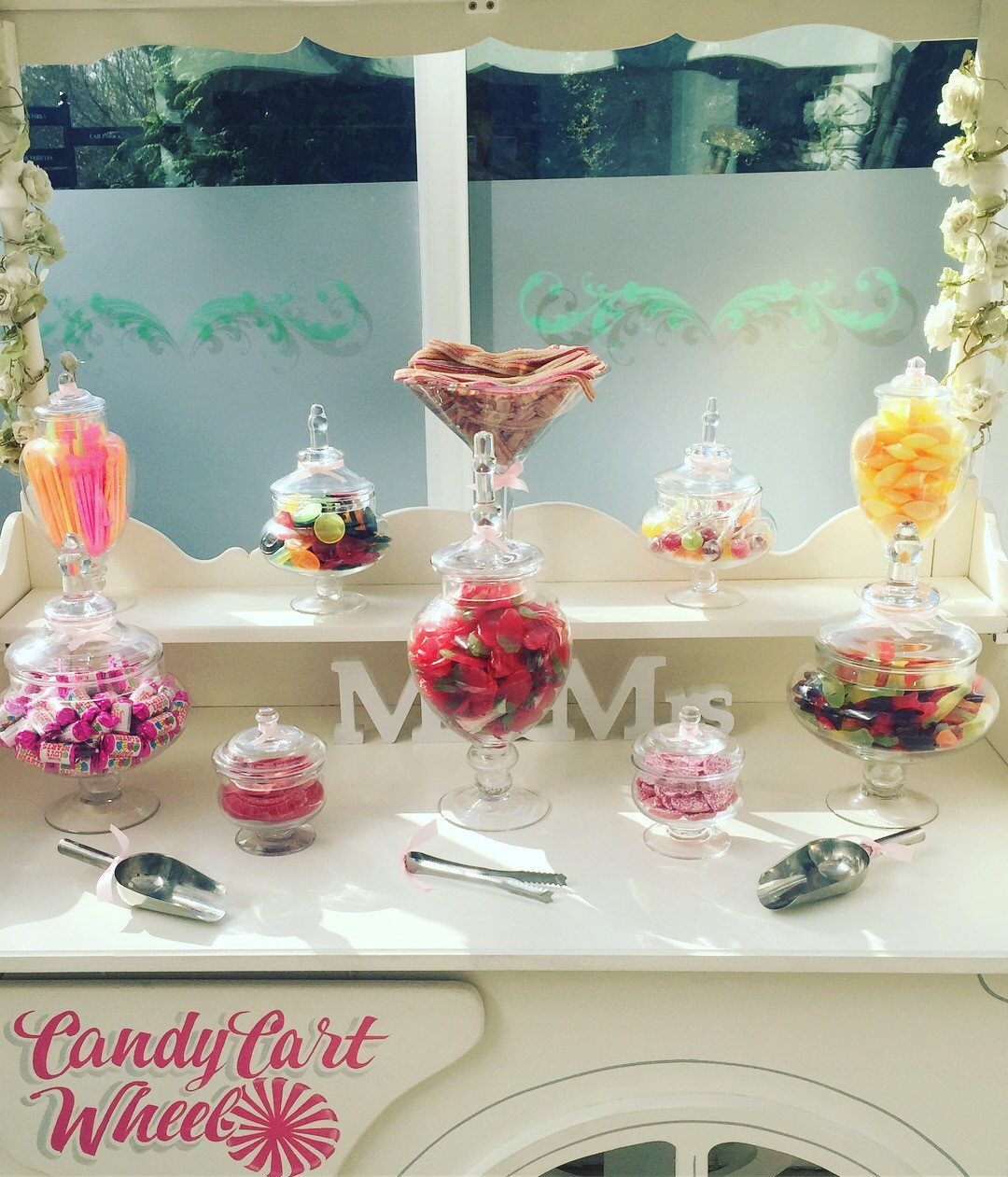 Candy Feast Wedding Cart Vegeterian Sweets - Ariana Gardens Chelmsford