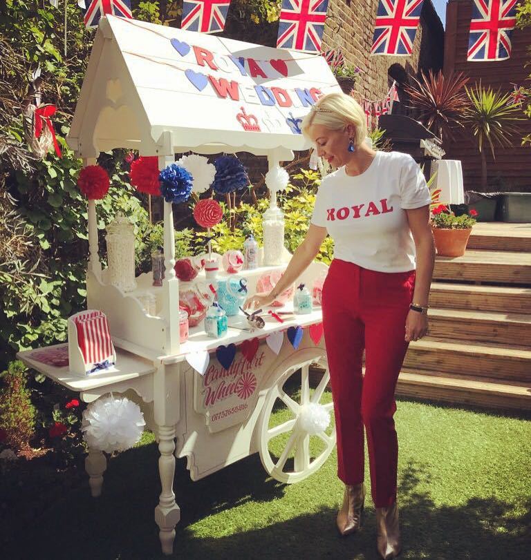 Denise Van Outen Royal Wedding Sweet Cart