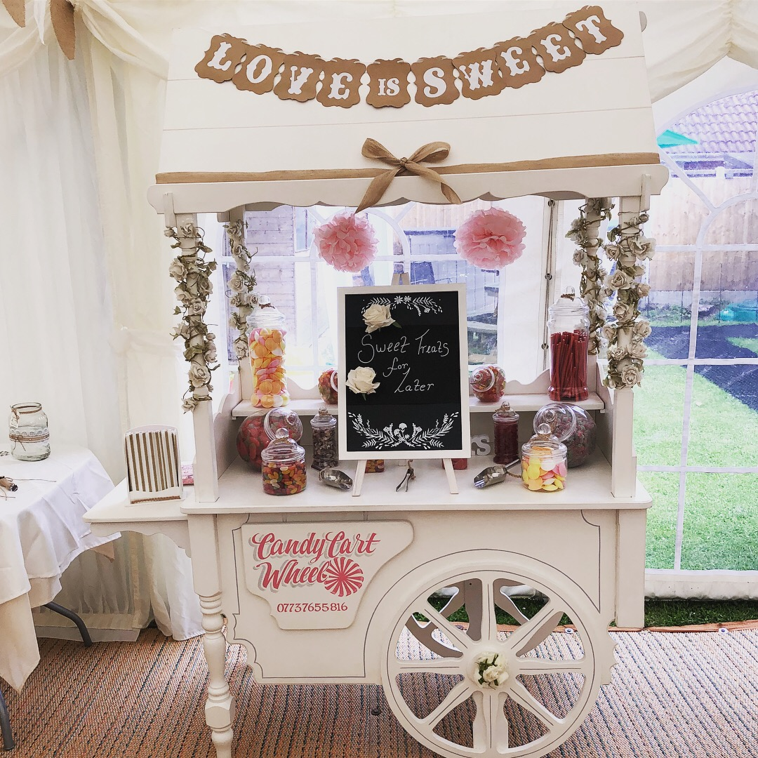 Candy Feast Rustic Wedding Cart
